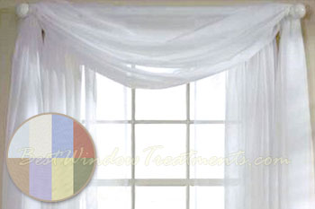 Turtle Bay Voile Scarf Available In White Ivory Sky Blue