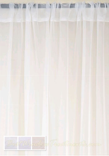 Batiste Sheer Curtain Drapery Panels