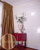 Thai Silk Pleated Drapery Curtain Panel in Bronze