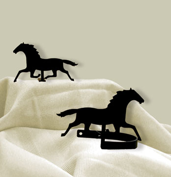 Running Horse Tie Backs
