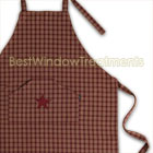 Burgundy Applique Star Full Apron