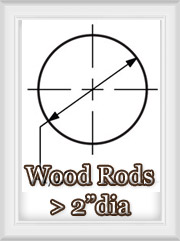 Large Diameter Wooden Curtain Rod Sets