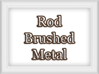 Brushed Metal Finish - Custom Curtain Rods