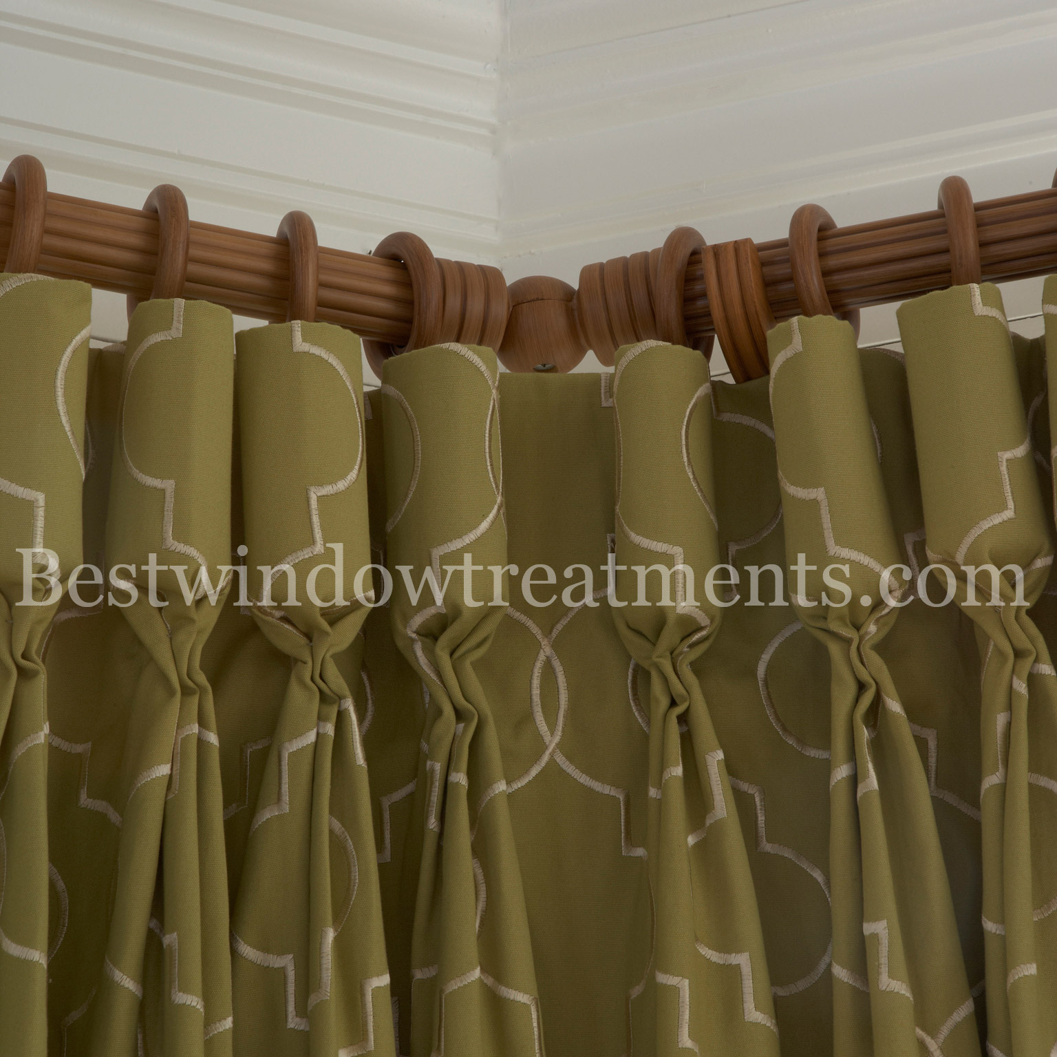 Corner Curtain Rods Bestwindowtreatments