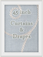 "Curtains: 45"" inch Length Curtain Panels"