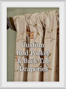 Custom Rod Pocket Drapery