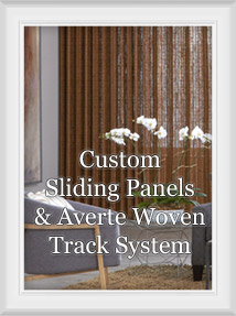 Custom Sliding Panels, Averte System, Woven Wood Panels, Natural Woods