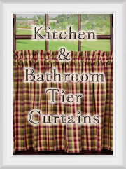 Shop Kitchen BathroomTier 24 30 36 inch Curtains