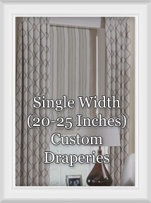 Custom Single Width Grommet Draperies