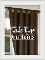 Curtains- Tab Top Drapery Panels