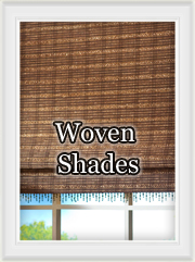 Woven wood roman shades: custom window treatments