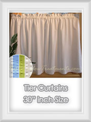 "30"" inch Length Tier Curtains"