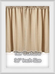 "36"" inch Length Tier Curtains"