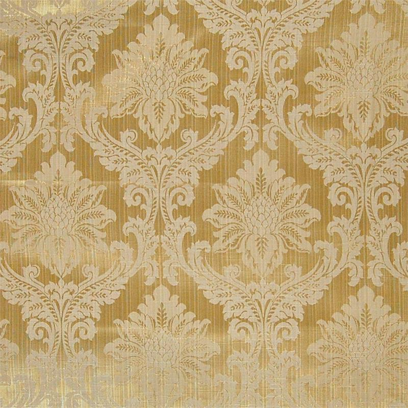 Damask Medallion Scroll Fabric By The Yard