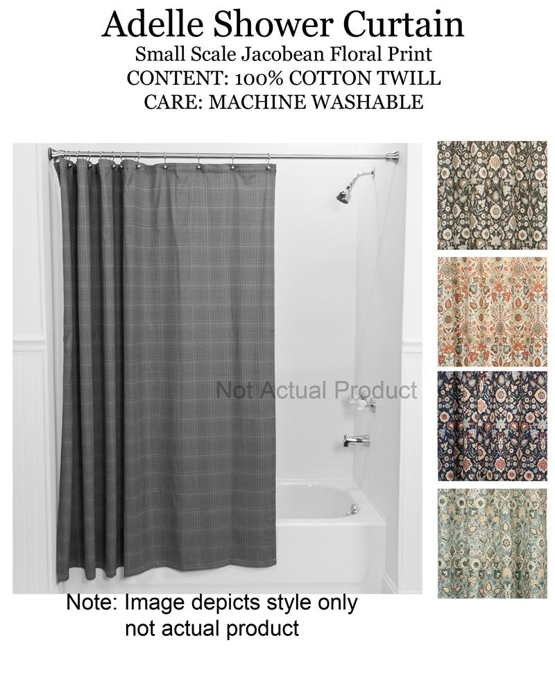 Adelle Medallion Shower Curtain