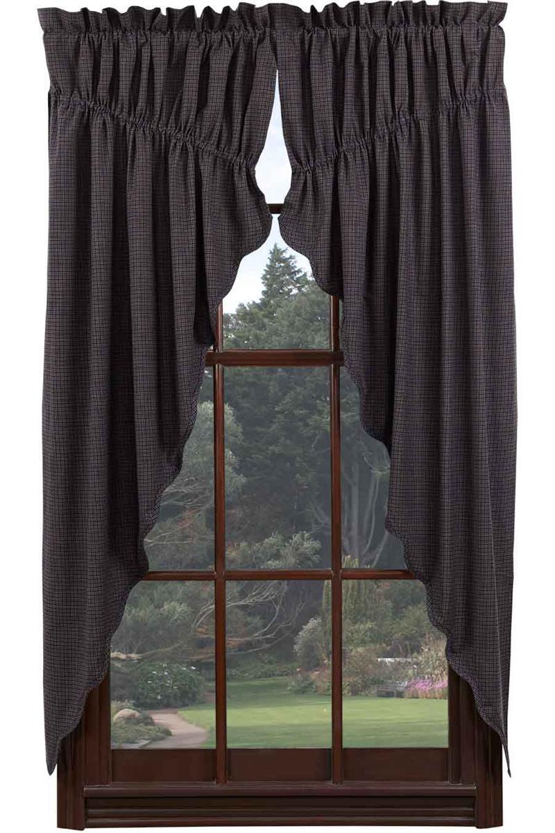 Arlington Plaid Prairie Curtain Window Toppers