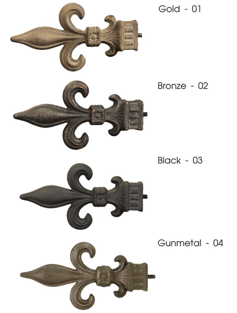 Picture of: Artistica Outdoor Iron Fleur De Lis Curtain Rod In 4 Finishes Bestwindowtreatments Com
