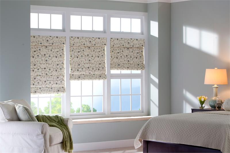 Black Out Roman Shades Bedroom