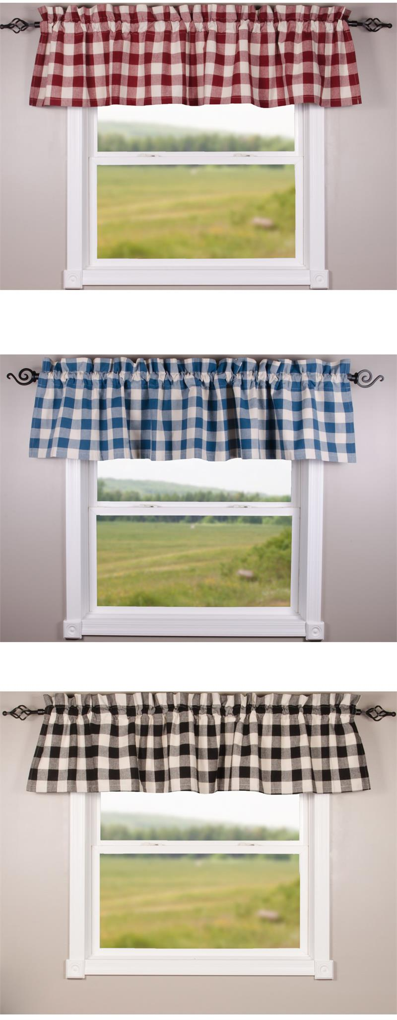 Buffalo Check Valance In 3 Colors Www Bestwindowtreatments Com