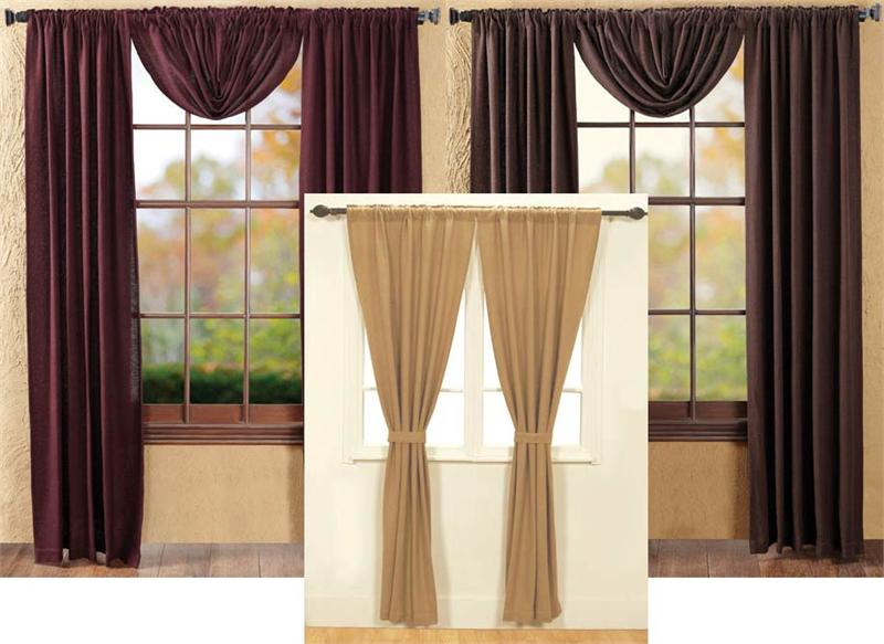 Soft Burlap Solid Curtains Pair Limited