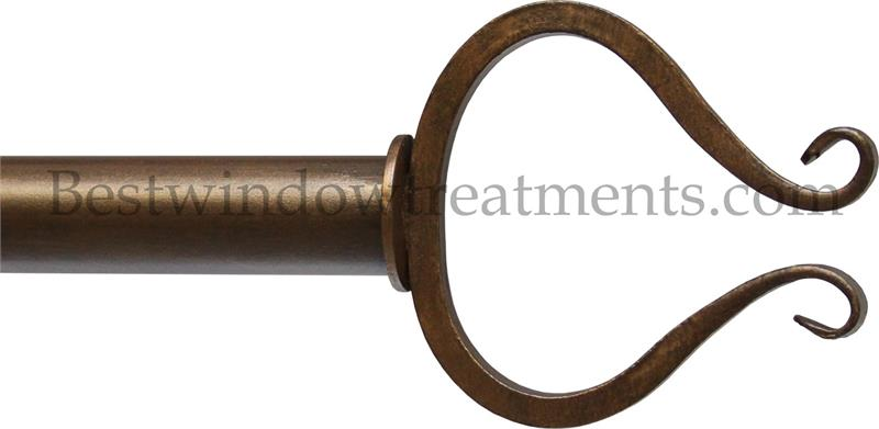 Chalice 1 Quot Iron Curtain Rod Extra Long Available