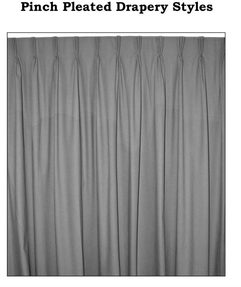 Ec Group C Custom Pinch Pleated Curtain Pairs 125 Wide