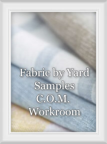 C.O.M. Customers Own Material/Fabric Program for Custom Window Treatments, Bedding, Pillow