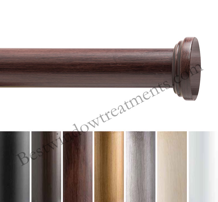 Diameter Wood Curtain Rod Set