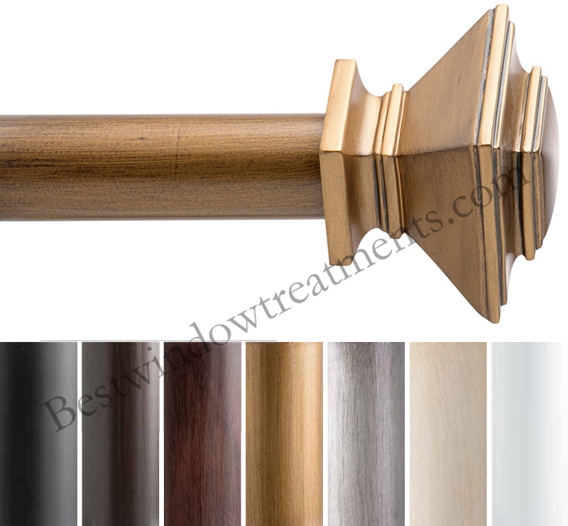 Maison Custom 1 38 Diameter Wood Curtain Rod Set Available In 7 Finishes Bestwindowtreatmentscom