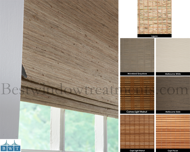 Usa Premium Custom Woven Window Shades With Blackout Lining Group 2 Patterns Bestwindowtreatments