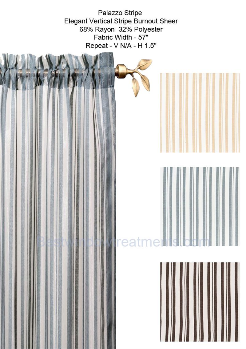 Palazzo Stripe Burnout Sheer Curtain Panel Limited Edition