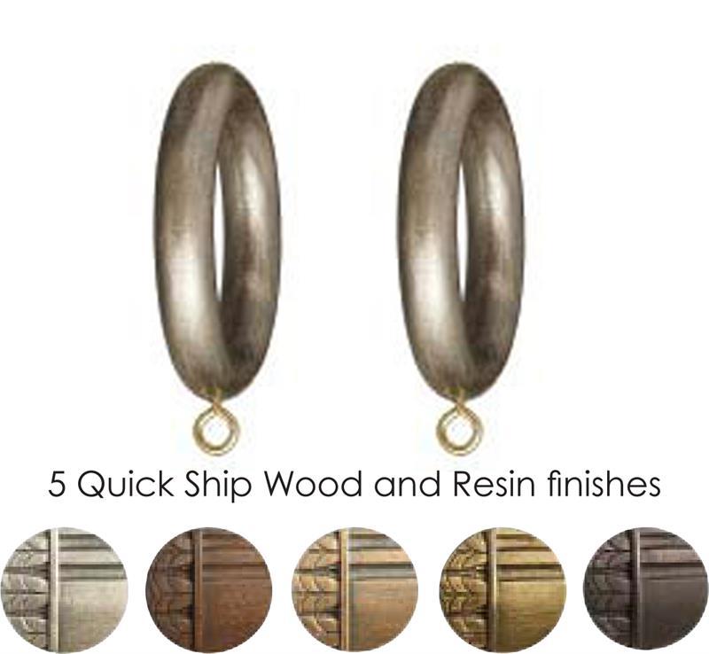 Wood Curtain Rings For 1 38 Curtain Rod Paris Of Texas Bestwindowtreatmentscom