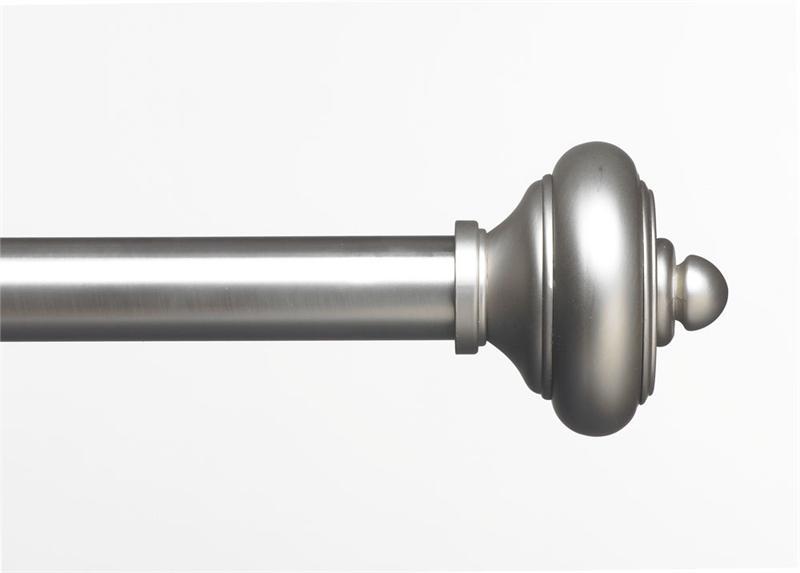 Bay Curtain Rods Contemporary Metal Adjustable