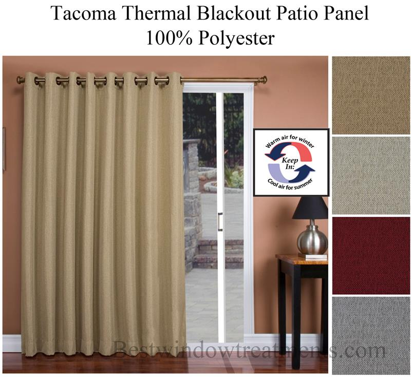 Tacoma Thermal Blackout Patio Width Curtain Panel In 4