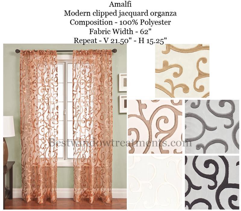 Amalfi Sheer Curtain Drapery Panels