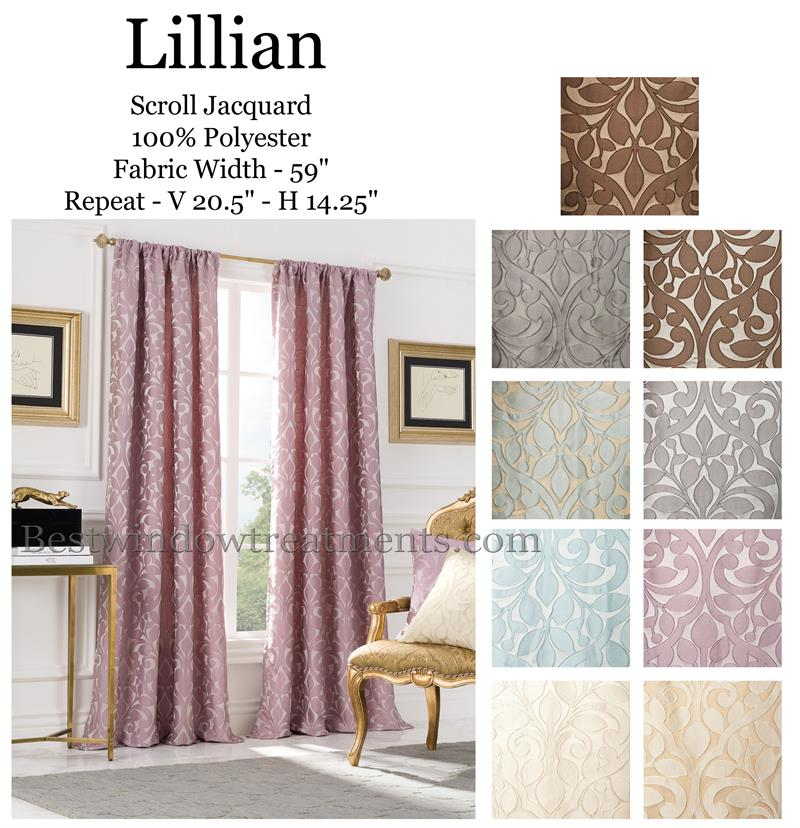 Lillian Curtain Drapery Panels