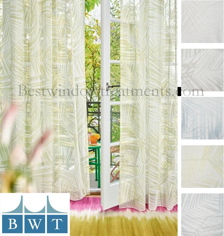 Nipa Wide Width 118 Printed Sheer Fabric By The Yard