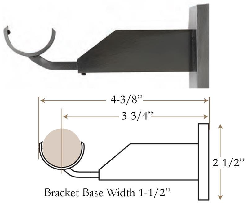 Select Landover 3 4 Quot Custom Brass Curtain Rod Set