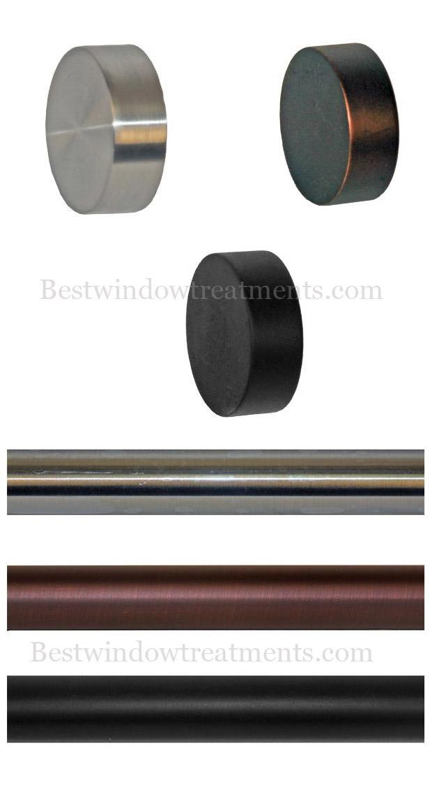 Tech End Cap Custom Modern Curtain Rod Set