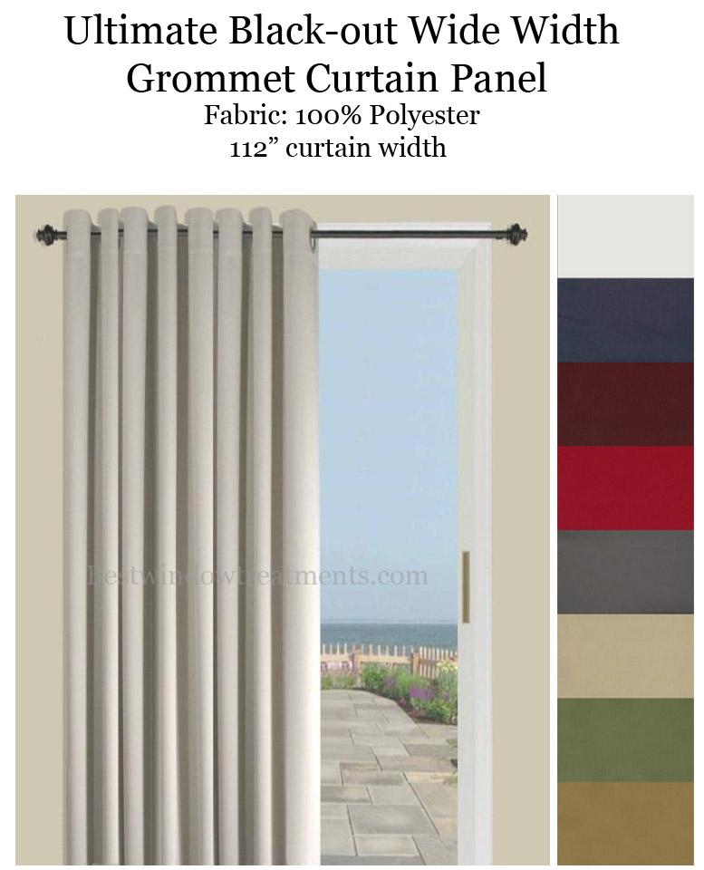 Ultimate Blackout Double Wide Grommet, Curtain Panel Width