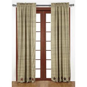 Abilene Star Curtains Pair