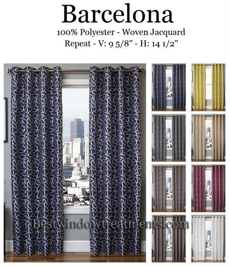 Barcelona Curtain Panel Bestwindowtreatments Com