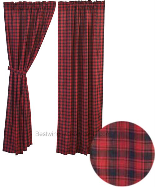 Cumberland Traditional Plaid Curtains