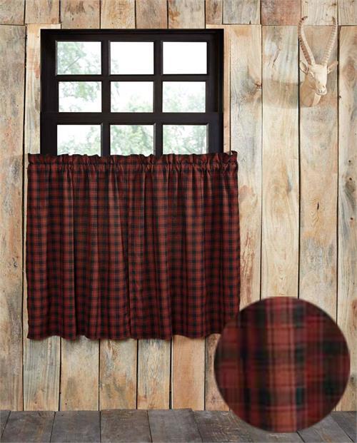 Cumberland Plaid Tier Curtains Bestwindowtreatments Com