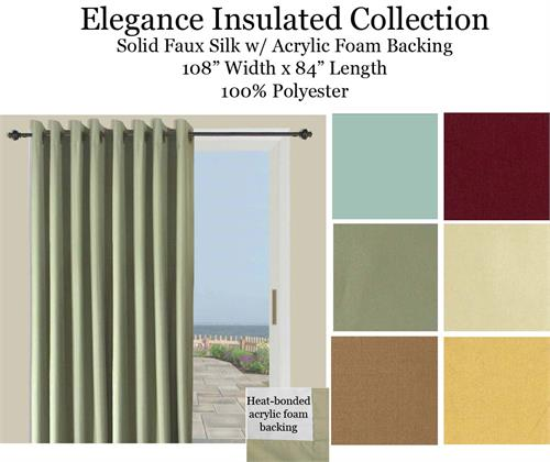 Elegance Double Width Grommet Curtain Panel In 6 Colors