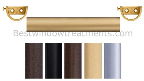 outdoor side mount custom curtain rod in 5 finishes. Black Bedroom Furniture Sets. Home Design Ideas