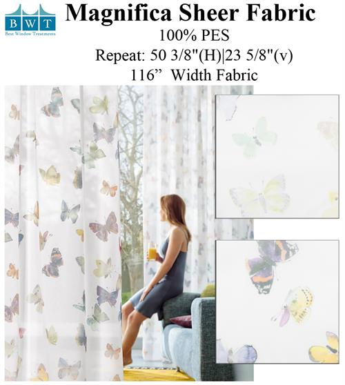 Magnifica Butterfly pattern fabric