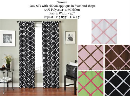 Bright Kids Curtains Lacttice Style with Blackout Lining Optional