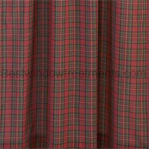 Traditional Tartan Plaid Curtains Pair