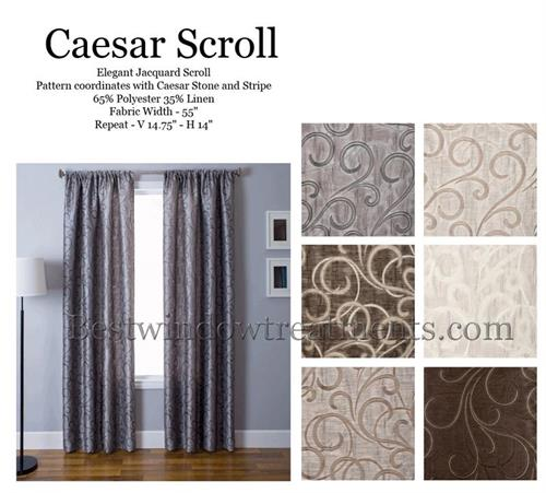 Caesar Scroll Faux Silk two tone with blackout lining option